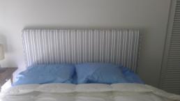 Rembourrage d'une tête de lit en tissus